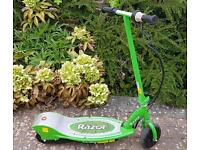 Razor electric scooter in green