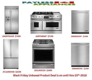 Black Friday Sales Are On Come to Payless Appliances and Save Big On Brand new and Open Box Products