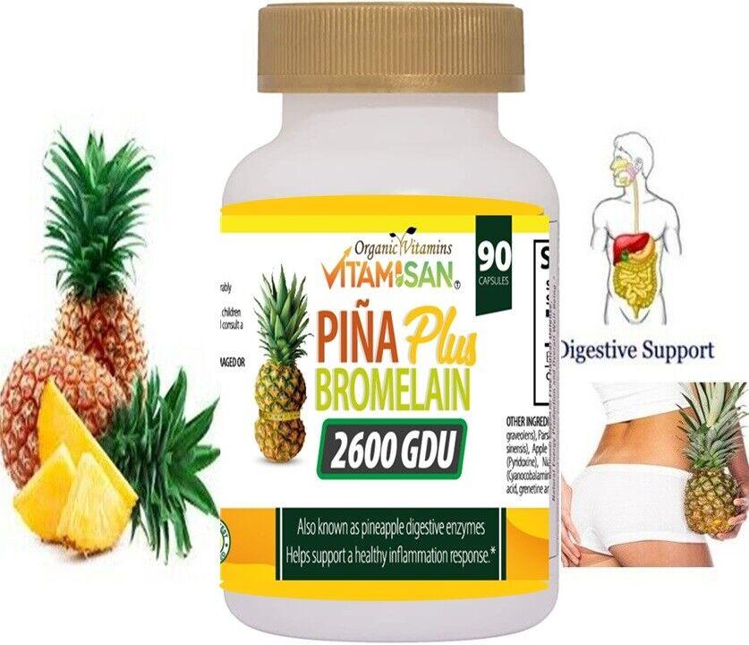 PINA SLIM CAPSULES Bromelain Pineapple Capsulas de Pina Slim Vida Keto 90 cap 3