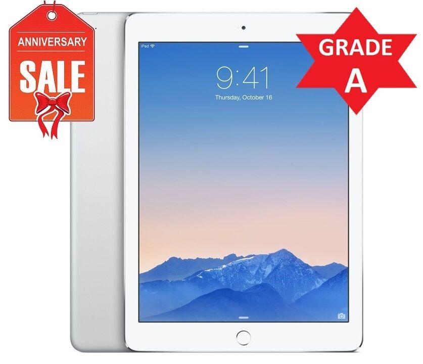 Apple iPad Air 2 16GB, Wi-Fi + 4G (Unlocked) 9.7in Silver (Latest Model) (R)