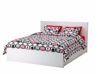 IKEA Ottoman MALM Super-king bed wtih the storage space