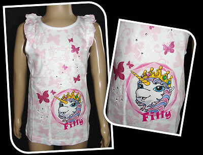 Schmetterling Weiß Tank Top (Shirt T-Shirt Tanktop Filly Pferd 92 98 104 110 116 122 Glitzer Schmetterling)