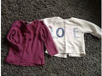 Girls tops aged 2-3 x2