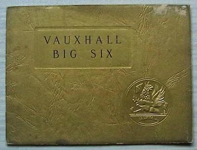 VAUXHALL BIG SIX Car Sales Brochure 1935-36 #596/9/35 Connaught TICKFORD Wingham