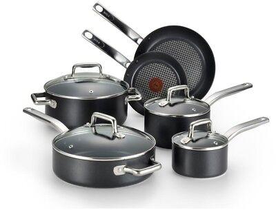 T-Fal/Wearever 10 Piece Professional Cookware Set, Multi, Bl