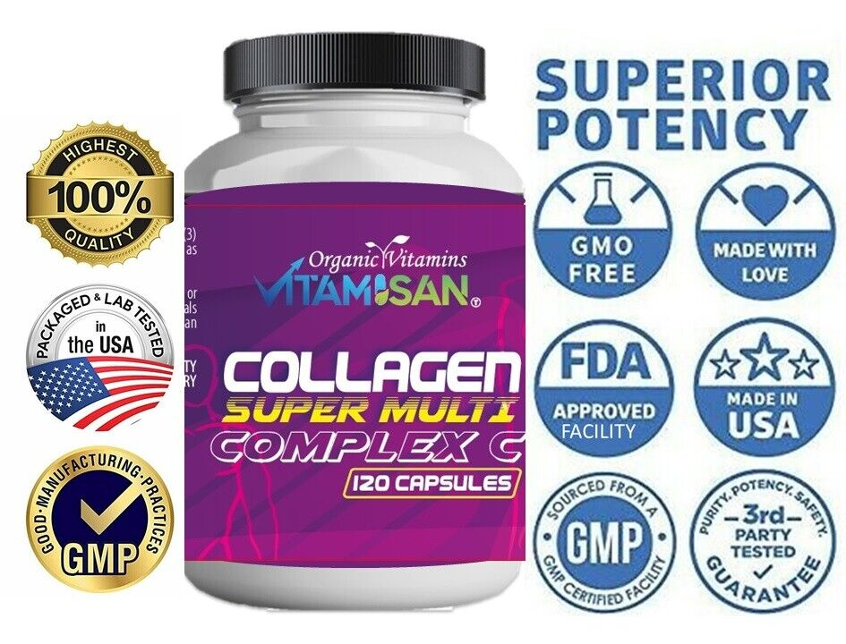 Hydrolyzed Multi Collagen Peptide Capsules for Keto Hair Skin Nails Anti-Aging C