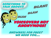 Can you talk a lot? Voiceover people wanted all types!