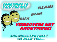Talkers wanted for voiceovers free showreel or video to keep....