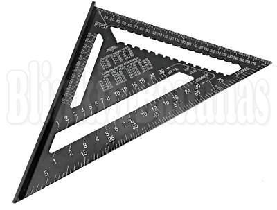 "30CM 12"" ROOFING SPEED SQUARE ALUMINIUM RAFTER ANGLE MEASURE TRIANGLE GUIDE 23D"