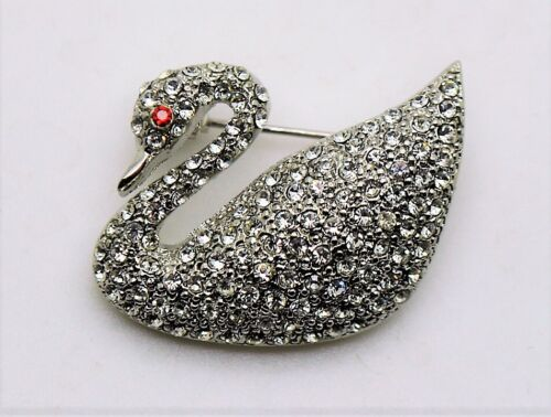 3 pc duck animal style siver crystal color fashion jewelry Brooch Pin lot #D249