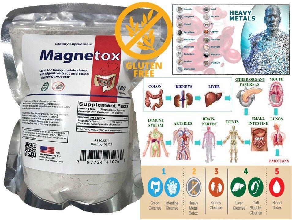COLON CLEANSER heave metal detox toxins EXTRACT POWDER DETOX CLEANSE mercury FAS
