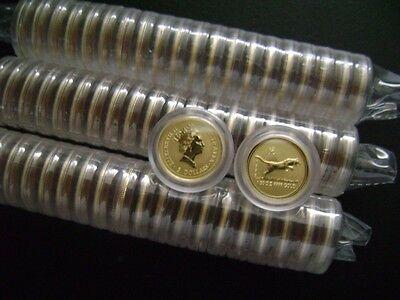 Australian Perth Mint $5 Lunar 1998 Year Of The Tiger 1/20 oz .999 Gold Series 1