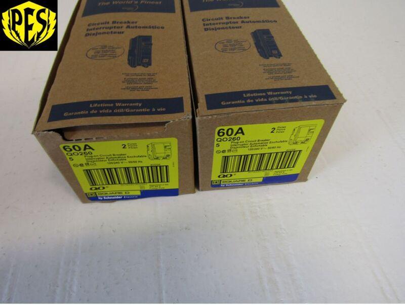 SQUARE D QO260 2 POLE 60 AMP 120/240V PLUG-IN QO CIRCUIT BREAKER