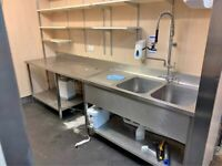 Catering equipment sinks commercial stainless steel prep tables restaurant kitchen items