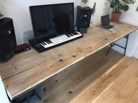 Vintage reclaimed vintage timber desk or table
