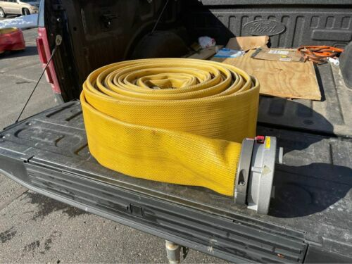 """5"""" Inch Fire Supply Hose - 100ft (Feet) Roll with Locking Aluminum Couplings"""