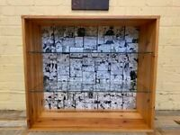 Solid Wood Art Decor Display Storage