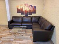 Perfect Brown Leather Corner Sofa