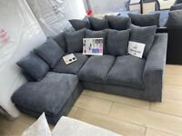 🌟 🌟ONE YEAR MANUFACTURE WARRANTY 🌟 🌟DYLAN JUMBO CORD CORNER SOFA OR 3+2 SEATER SOFA NOW
