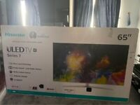 HISENSE 65 INCHES 4K SMART ULED NEW METAL NEW TV
