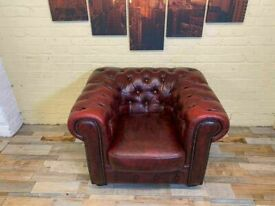 Passionate Chesterfield Red Leather Armchair