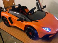 stunning Licensed Lamborghini Aventador12v Children's Electric Ride On Car 131cm(L) x 72.5cm(W)