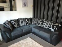 Shannon black & Grey Sofa Corner or 3+2 Seater Sofa AVAILABLE IN STOCK