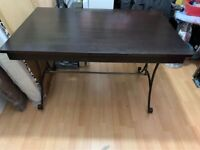 GENOVA DARK BROWN STRONG WOODEN DINING TABLE