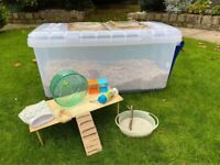 Extra Large Hamster Bin Cage including accessories!