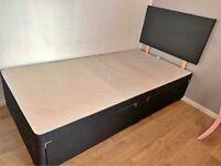 Brand New Single Divan Bed Base with Headboard !! Drawers & Mattress (Optional)