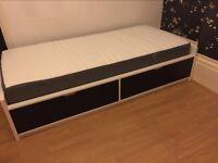 IKEA Flaxa Single Bed with mattress
