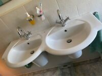 Double sink, Toilet and Bidet. Perfect condition!