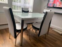❣💞ATTRECTIVE DESION 🚎FASTEST DELIVERY BRAND NEW TURKISH DINING TABLE WITH 6/4 CHAIRS🚑