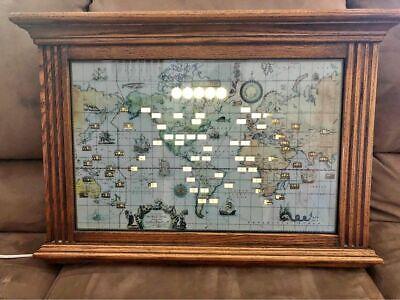 Vintage Howard Miller World Time Oak Mantle Clock 1959 - 612-371. EUWC