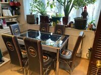 Brand new dinning table with 4/6 chairs is for now available with fast delivery