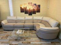 Beautiful Leather Corner Sofa (KT)