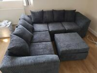 L SHAPE LIVERPOOL JUMBO CORD CORNER OR 3+2 SEATER SOFA SET AVAILABLE IN STOCK IN MANY COLORS