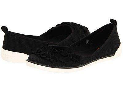 Rocket Dog Black Flat Shoes Womens 7 Bond Ribbed Knit Cotton Free Ship