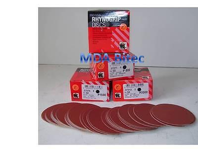 "Indasa Red Line DA Abrasive Discs 75mm P2000 Grit - 3"" Mini Velcro Sanding Discs"