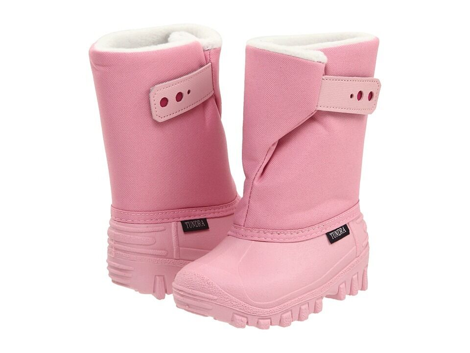 Tundra Teddy Pink Snow Boots Waterproof Shell Shoes Little Girls /kids Size 12
