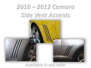 CAMARO-Quarter-Panel-Vent-Gill-Vinyl-Decal-Inserts-Custom-Color-Choice