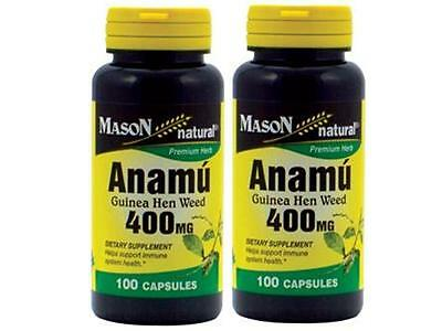 ( Pack 2 ) 100 Capsules Anamu 400 Mg Circulatory System Low Sugar Control