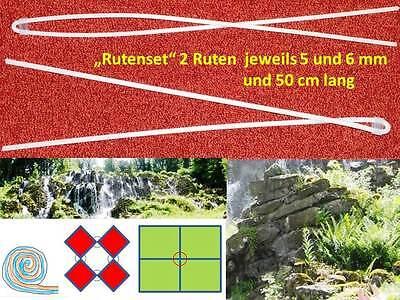NEU Wünschelrute Set 2 Ruten jeweils 5 und 6 mm 50 cm lang DOWSING Divining