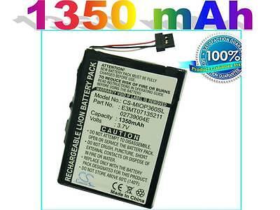 Battery For Mitac Mio P360, P560, P560t, P565 (p/n E3mt07135211, 02739004e )