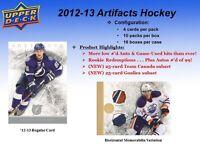 2012-13 Upper Deck Artifacts Hockey Cards Hobby Box