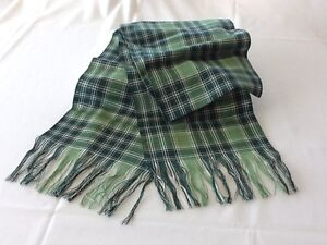 NEW SCOTTISH CLAN TARTAN WOOL SASH, Plaid Scarf, Country, MacDONALD & MacLEOD