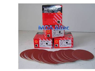 "Indasa Red Line DA Abrasive Discs 75mm P1500 Grit - 3"" Mini Velcro Sanding Discs"