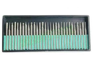 30-FRESE-DIAMANTATE-GAMBO-3mm-PER-TRAPANO-DREMEL-PROXXON-E-MINI-SPERIGLIATRICE