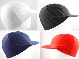 1-Piece-Spandex-Visor-Dome-Cap-Liner-Sports-Biker-FootBall-Beanie-Hat-Uni-Color