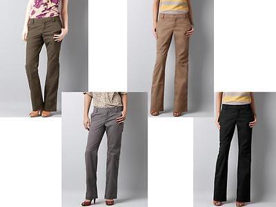 Ann Taylor Loft Marisa Chino Pants Size 0t Black